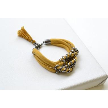 Gudbling // Senfgelbes Quasten Armband