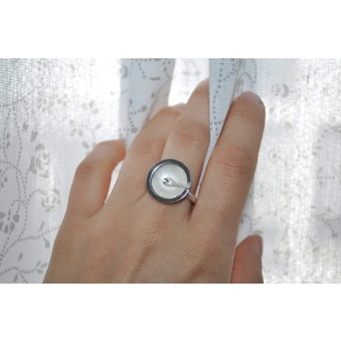 """DOPPELLUDWIG TAFELSILBER Ring """"Suppe"""" aus Silber"""