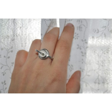 "DOPPELLUDWIG TAFELSILBER Ring ""Schüssel"" aus Silber"