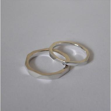 """Ring """"Verkantet"""" aus 925/- Silber von Doppelludwig"""