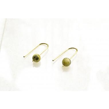 Gudbling // Messing Ohrringe mit Gelbem Türkis