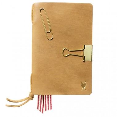 LIEBHARDT - Tagebuch / Notizbuch Wechsel-Cover aus Leder (DIN A6, braun, geeignet für Moleskine Hefte)