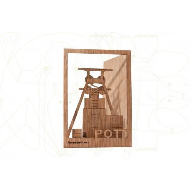 formes Berlin Pott-Karte - 6 Postkarten aus Holz