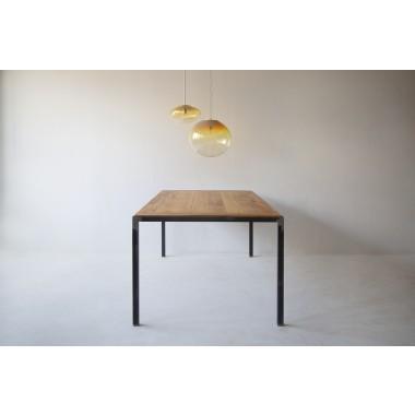 FraaiBerlin Esstisch aus Altholz Eiche & Eisen Jasmijn/Maaike 200 x 100 cm