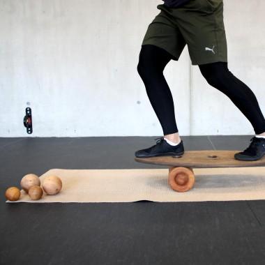 rollholz – Balanceboard zum Training für Gleichgewicht- & Koordinationsfähigkeit (Set klein)