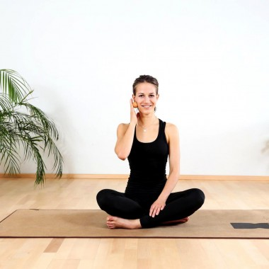 rollholz – Massagekugel aus Holz für punktuelle Behandlung – 4cm