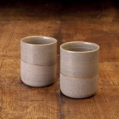 Keramikbecher mit Goldlinie