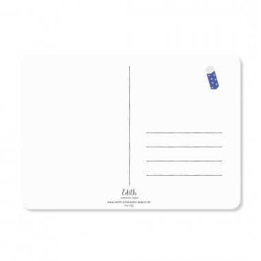 "Edith schmuckes Papier ""Alles Gute zum Schulanfang"" Postkarte"
