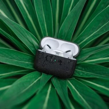 Woodcessoires – Nachhaltiges AirPod Case aus Bio-Material für AirPods 1 / 2 / Pro (schwarz)