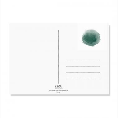 "Edith schmuckes Papier ""Wasserfarbe - Postkarte Set"" 3 Postkarten"