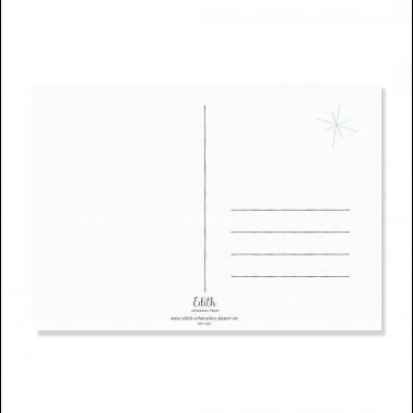 "Edith schmuckes Papier ""Jingle Bells - Postkarten Set"" 2 Postkarten"