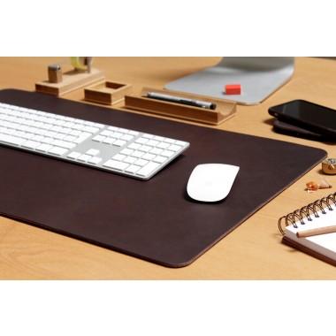 """Leder Schreibtischunterlage /Tastaturunterlage """"Richmond"""" mit rutschfester Naturkautschuk Rückseite"""