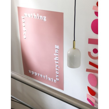 """expect nothing, appreciate everything""-Poster, Fine-Art-Print"
