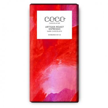 3x Coco Chocolatier dunkle Schokolade Artisan Roast Espresso (vegan & glutenfrei)