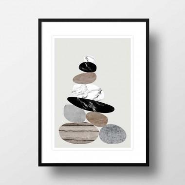 """Amy & Kurt Berlin A3 Artprint """"Steinhaufen"""""""
