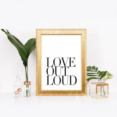 """Amy & Kurt Berlin A4 Artprint """"Love out loud"""""""