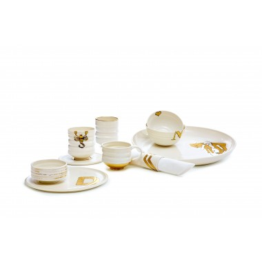 Porzellantasse + Unterteller GOLD