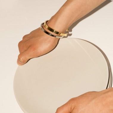 Lois Mathar, Armband Edelstahl, mittel, 5mm