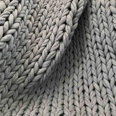 adorist. - Baumwolldecke Chunky Knit, vegan scandi grey