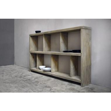 FraaiBerlin Regal im Landhaus-Stil Ardiana Grey Wash