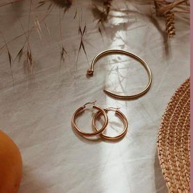 ST'ATOUR BLANCA – breite Creolen in Gold, Silber oder Roségold