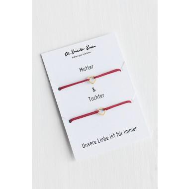 Oh Bracelet Berlin - 2er-Set: Armband »Mutter & Tochter« Farbe Gold