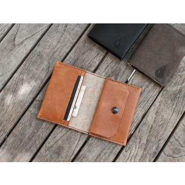 Love Leather Wallet - cognac (Leder) Portemonnaie