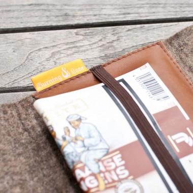 Smoking Pouch-Tabaktasche (Filz und Leder)