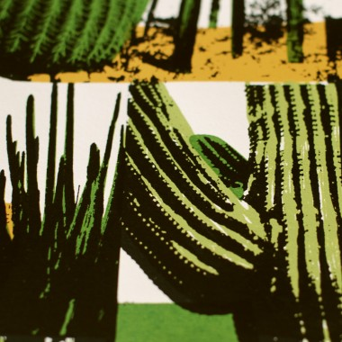 Print now - Riot later ● Cacti Collage Siebdruck
