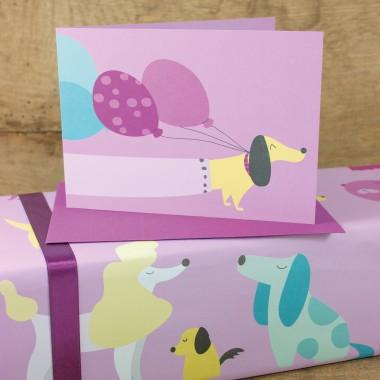 """Bow & Hummingbird Geschenkpapier """"Dogs"""""""