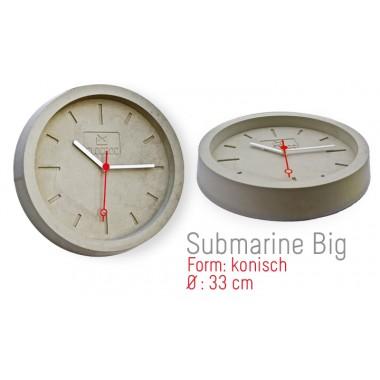 Ambientshop Clocroc Wanduhr aus Beton -  Submarine Big: