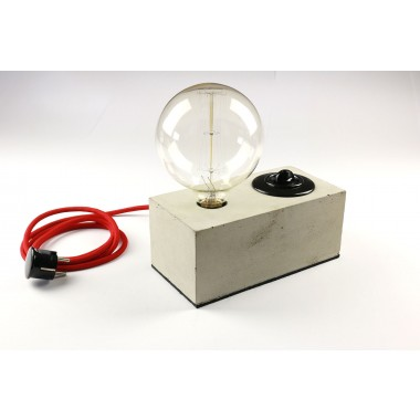 Alexej Nagel Leuchte aus Beton | Tischlampe | Industrielampe | Vintage Look Lampe | Betonleuchte in grau Farbe | Lampe aus Beton
