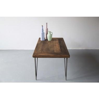 Couchtisch aus Bauholz und Eisen Jasmijn/Hairpin 100x55x50cm
