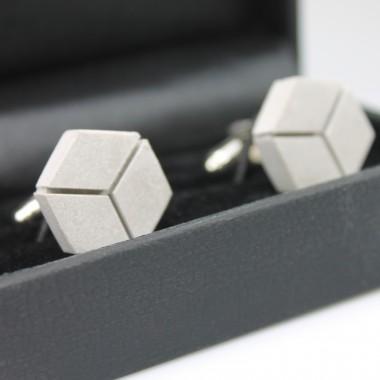 betonIDEE cubelinks Manschettenknöpfe aus Beton