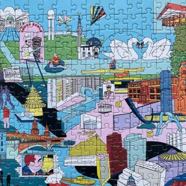 BERLIN – puzzle 1000 (Stadt-Puzzle mit 1000 Teilen + doppelseitigem Poster)
