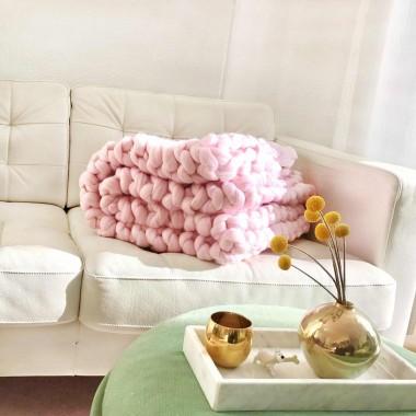 adorist. – Wolldecke Cosima Chunky Knit, babypink