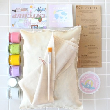 Catchup Studios nachhaltige DIY Box Papier Vase - Pastell