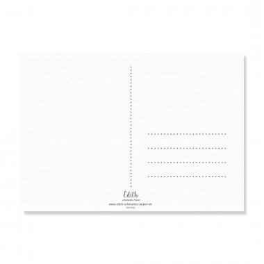 "Edith schmuckes Papier ""Du bist wundervoll"" Postkarte"