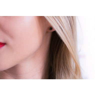 BeWooden Ohrringe - Ohrstecker mit Holzdetail - Rea Earrings Hexagon