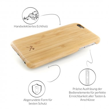 Woodcessories - EcoCase Cevlar - Premium Design Hülle, Case, Cover, Backcover für das iPhone 7 / 8 aus FSC zert. Holz (Walnuss, Kirsche, Bambus)