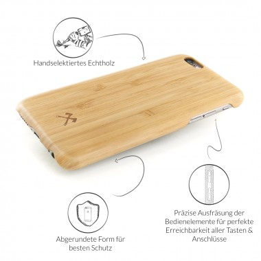 Woodcessories - EcoCase Cevlar - Premium Design Hülle, Case, Cover, Backcover für das iPhone 6 Plus / 6s Plus aus FSC zert. Holz (Walnuss, Kirsche, Bambus)