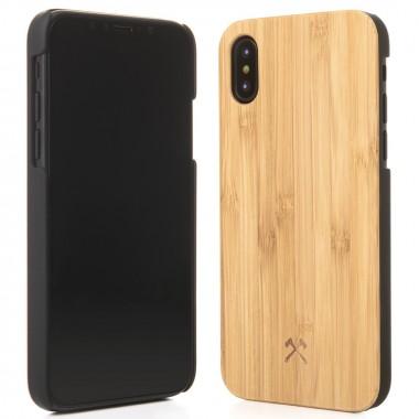 Woodcessories - EcoCase Classic - Premium Design Case, Cover, Hülle für das iPhone aus FSC zert. Holz (iPhone X, Walnuss, Kirsche, Bambus / schwarz)