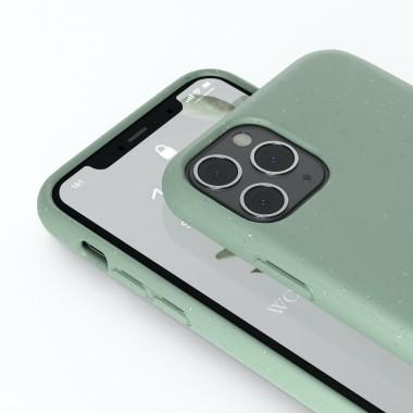 Woodcessoires – Nachhaltige iPhone Hülle aus Bio-Material für iPhone 12 / Mini / Pro / Pro Max (mintgrün)