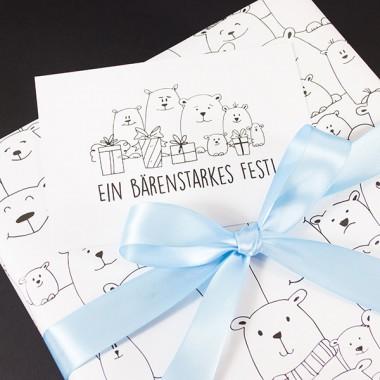 "Bow & Hummingbird Geschenkverpackungs-Set ""Frostige Freunde"""