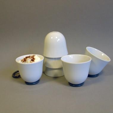 Set YOU Espresso glasiert, 6 Stück