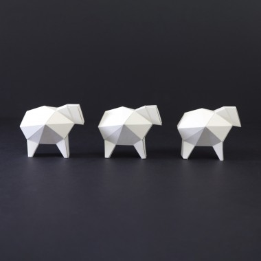 Kubistische Weihnachtskrippe aus Papier im DIY Kit als Adventskalender