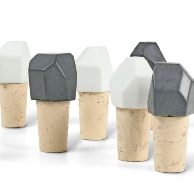 Korn Produkte Flaschenverschluss ZWÖLF aus Beton und Kork