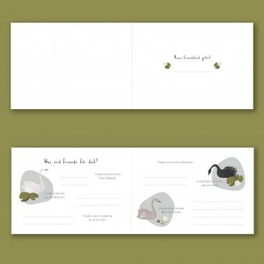 Elliet - Freundebuch Kindergarten und Schule - Schwan