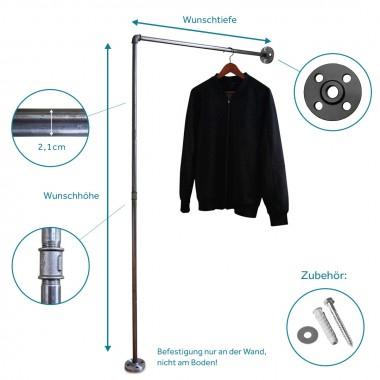 Industrial Design Garderobe, Kleiderständer & Kleiderstange für Wandmontage STAND