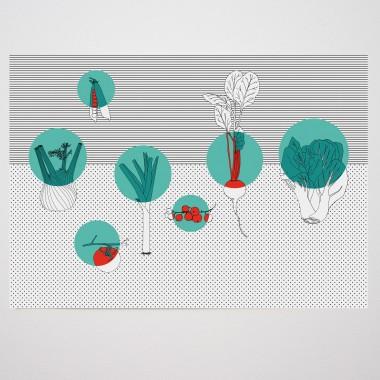 Obst & Gemüse - Print - A3